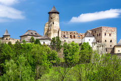 The Lubovna castle, Slovakia. Beautiful medieval Lubovna castle from Slovakia. Summer 2017 royalty free stock photography
