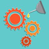 Lubrication the gear graphic. Mechanical Maintenance Stock Photos