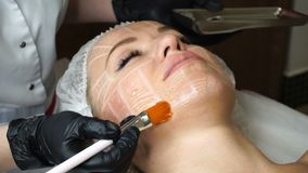 Lubrication lifting. Non-surgical face lifting. Lubrication lifting ultrasonic. Facelift. Process of rejuvenation. Spa treatment. Hardware cosmetology stock video