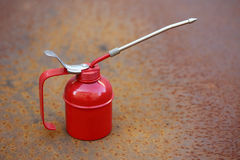 Lubrificador vermelho Foto de Stock Royalty Free
