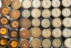 Lubrifichi le lampade dell'icona per le donazioni del fuoco senza fuoco Fotografie Stock Libere da Diritti