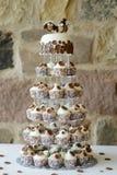 Ślubu galanteryjny tort Obrazy Royalty Free