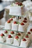 Ślubu galanteryjny tort Fotografia Royalty Free