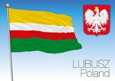 Lubusz regional flag, Poland Royalty Free Stock Photo