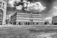 Lubyanka Building, iconic KGB former headquarters, Moscow, Russi Royalty Free Stock Images