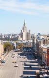 Lubyanka and Novaya Square in Moscow Royalty Free Stock Photo
