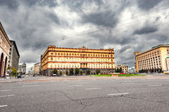 Lubyanka square by FSB and KGB headquarters. Royalty Free Stock Images