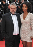 Luc Besson & Virginie Besson Stock Images