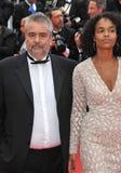 Luc Besson & Virginie Besson royalty free stock photo