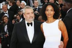 Luc Besson y Virginie Silla Fotos de archivo