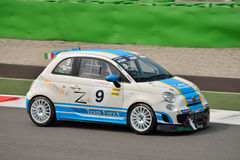 Luca Anselmi Abarth Trophy Fiat 2015 500 à Monza Images stock