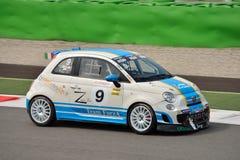 Luca Anselmi Abarth Trophy Fiat 2015 500 em Monza Imagens de Stock