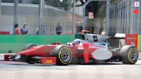 Luca Filippi участвуя в гонке в GP 2012 Сингапур Стоковое Изображение RF