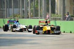 Luca Filippi участвуя в гонке в GP 2012 Сингапур Стоковые Изображения