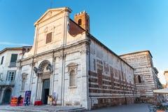 "LUCA, ITALIË Â€ ""23 MEI, 2017: De kerk van San Giovanni in Luca, Toscanië, Italië royalty-vrije stock fotografie"