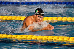 Luca Pizzini swimmer during 7th Trofeo citta di Milano swimming competition. Stock Images