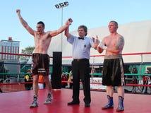 Luca Tassi vs Sandor Ramocsa boxer Stock Photography