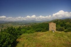 Lucania Итальянская сельская местность Стоковые Изображения