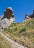 Lucanian Dolomites. Pietrapertosa. Basilicata. Royalty Free Stock Images