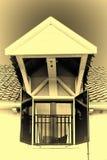 Lucarne sur le toit d'une maison en Hollande photo libre de droits