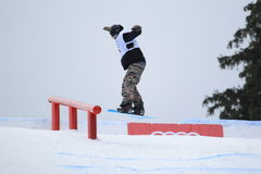 Lucas Baume - slopestyle Royaltyfri Fotografi