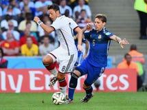 Lucas Biglia and Mesut Ozil Coupe du monde 2014 Royalty Free Stock Photos