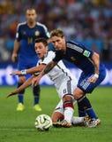 Lucas Biglia and Mesut Ozil Coupe du monde 2014 Royalty Free Stock Images
