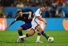 Lucas Biglia and Philipp Lahm Coupe du monde 2014 Royalty Free Stock Photos