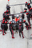 Lucas di Grassi pitting at the Malaysian F1 Royalty Free Stock Images