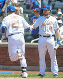 Lucas Duda and Mike Cuddyer Royalty Free Stock Photo
