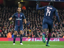 Lucas Moura and Blaise Matuidi Stock Photography