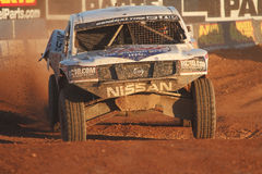 Lucas Oil Off Road Series (LOORS) Challenge Cup 2012. CHANDLER, AZ - OCT 28: Carl Renezeder (1) leads the pack in the Lucas Oil Off Road Series racing Challenge Stock Photography