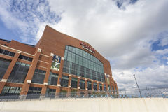 Lucas Oil Stadium in downtown of Indianapolis, Indiana Stock Photo