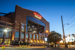 Lucas Oil Stadium in downtown of Indianapolis, Indiana Stock Photos