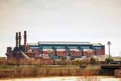 Lucas Oil Stadium in Indianapolis royalty free stock photos