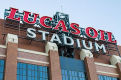 Lucas Oil Stadium Sign Lizenzfreies Stockbild