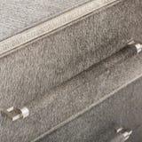 Lucas Sideboard | Rove Concepts, weiße 3 Fach Fernsehunterhaltungs-Einheit, Fach-Aufbereiter Mateer 3 mit weißem Hintergrund lizenzfreies stockfoto