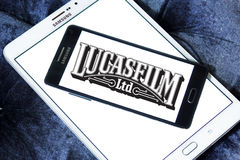 Lucasfilm logo. Logo of the american film and television production company lucasfilm on samsung mobile phone on samsung tablet Royalty Free Stock Photography