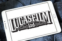 Lucasfilm logo. Logo of the american film and television production company Lucasfilm on samsung tablet Royalty Free Stock Photos