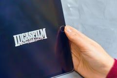 Lucasfilm-Logo auf ipad lizenzfreie stockfotos