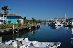 Lucaya portuario en Bahamas Imagenes de archivo
