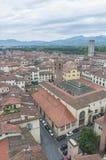 Lucca全视图在托斯卡纳,意大利 免版税库存照片