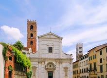 Lucca教会 库存图片