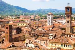 Lucca都市风景 免版税图库摄影