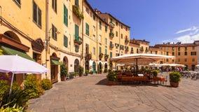 Lucca ωοειδής πλατεία Στοκ φωτογραφία με δικαίωμα ελεύθερης χρήσης
