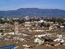 Lucca. Landscape of Lucca from Giunigi Tower royalty free stock images