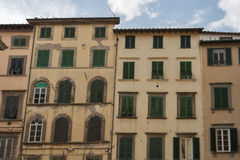 Lucca ancient residential houses, Italy Stock Photo