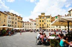 Lucca Anfiteatro πλατεία Στοκ Εικόνες