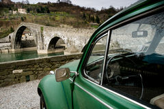 Lucca, Borgo Mozzano, Maddalena most Fotografia Royalty Free