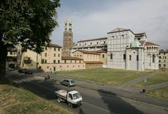 Lucca cathedral Royalty Free Stock Image